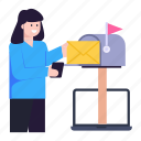 online mail, online mailbox, online mailing, post box, post letter