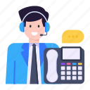 hotline, helpline, telephonic chat, landline, customer services agent