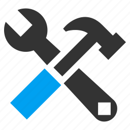 hammer, instrument, repair, service, spanner, system configuration, wrench icon