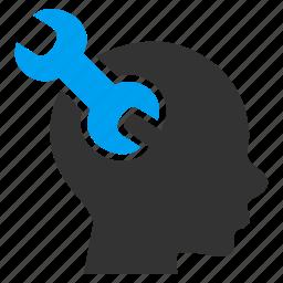 brain, intelligence, memory, mental, mind tools, psychology, service icon