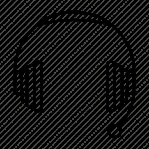 audio, headphone, headphones, headset icon