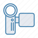 camcorder, video, videocam, videocamera icon