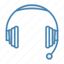 audio, headphone, headphones, headset icon