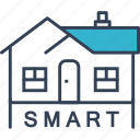 city, house, smart, technique icon