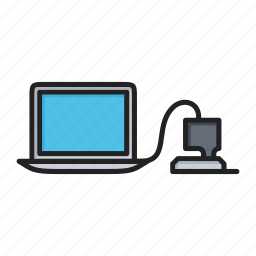 computer, laptop, pc, personal computer, turn on icon