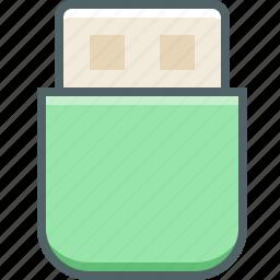 data, database, device, memory, storage, technology, usb icon