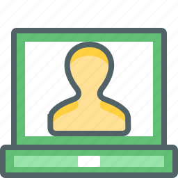 account, computer, laptop, people, person, profile, user icon