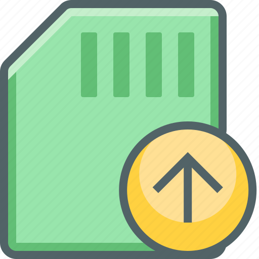arrow, card, memory, send, storage, up, upload icon