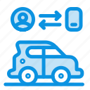 car, man, technology, transport icon