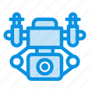 action, camera, technology icon