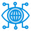 data, manager, technology, vision icon