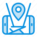 location, map, mobile, technology icon