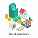 atm machine, bank equipment, banking devices, payment gateway, payment method, transaction modes icon