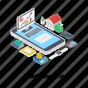 banking app, digital banking, ebanking, electronic payment, mobile banking, online transaction icon
