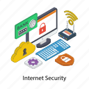 computer privacy, computer security, cybersecurity, internet security, online security, web security icon