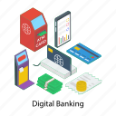 atm machine, digital banking, ebanking, electronic payment, online transaction icon