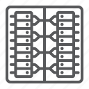 network, center, server, data, database, system