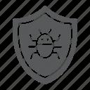 antivirus, firewall, protection, shield, software, technology icon