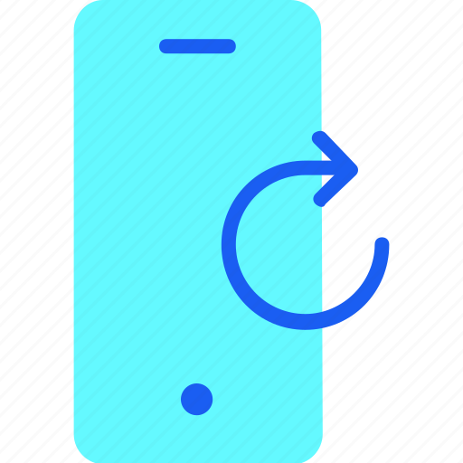 communication, connection, mobile, phone, reload, smartphone, technology icon