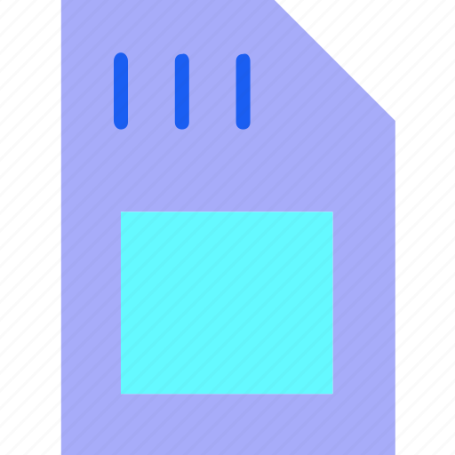device, gadget, mobile, phone, sim card, smartphone, technology icon