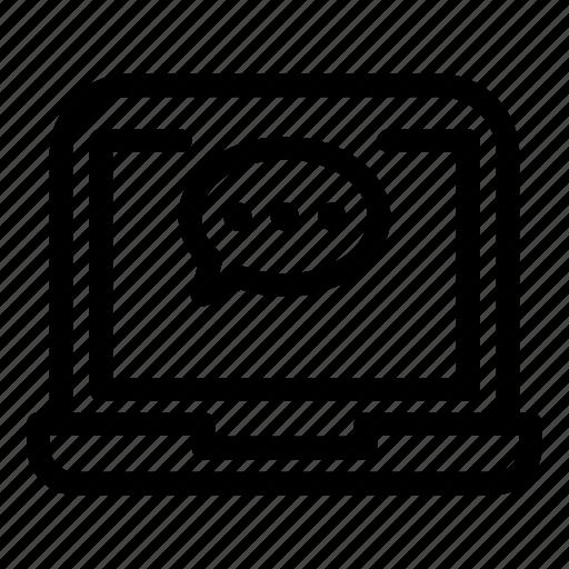 Computer, desktop, laptop, monitorchatbubble icon - Download on Iconfinder