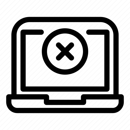 Computer, desktop, laptop, monitorcleardelete icon - Download on Iconfinder