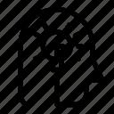 head, idea, maze, problem, solving