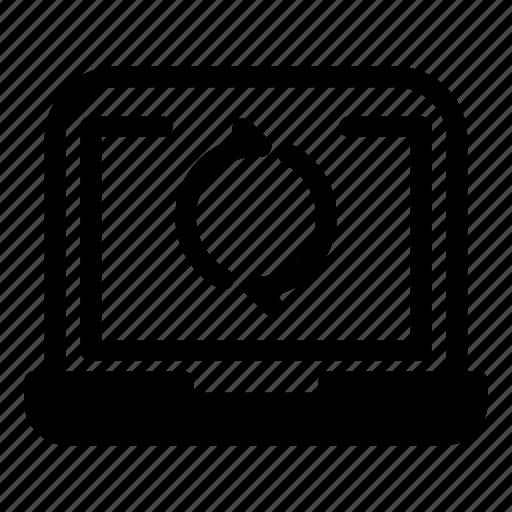 Computer, desktop, laptop, monitorrecycle, refreshsync icon - Download on Iconfinder