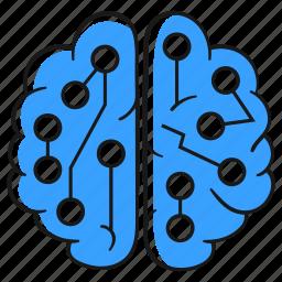 artificial, intelligence, ai, brain, robot, cyborg, neural