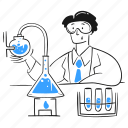 lab, experiment, laboratory, science, scientist, analysis, chemistry icon