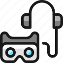 vr, controller, headphones