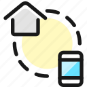 smart, house, phone, connect