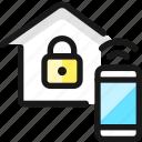 smart, house, phone, lock