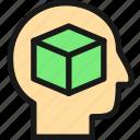 user, 3d, box