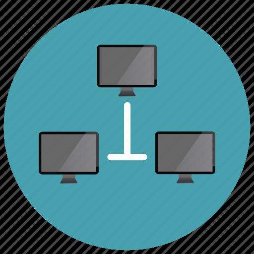 computer, monitor, network, sharing icon
