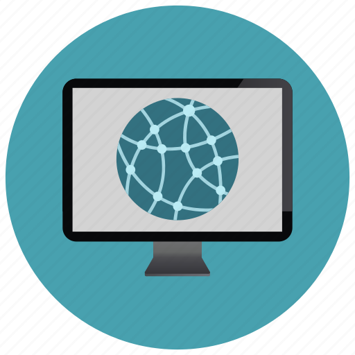 device, monitor, network, screen, technology icon