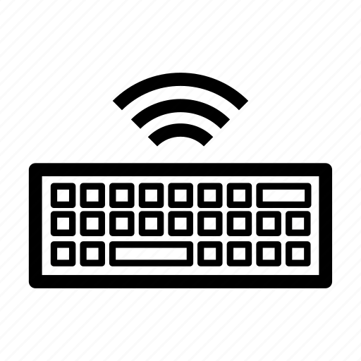cartoon, computer, keyboard, technology, wireless, wireless keyboard icon