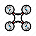 camera, drone, technology, uav icon