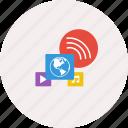 access global, design, earth, internet, modern, music, technology icon