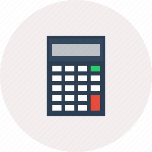 calculate, calculator, design, mathematics, modern, object, technology icon