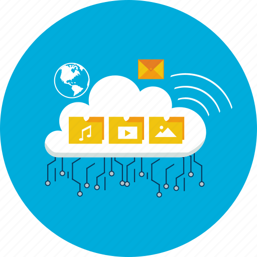 computer, design, global, internet, modern, server, technology icon