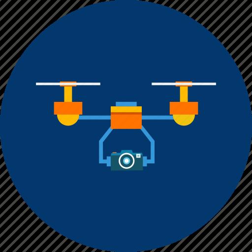 camera, design, drone, mini plane, modern, object, technology icon
