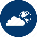 access, cloud, design, earth, global, modern, technology icon