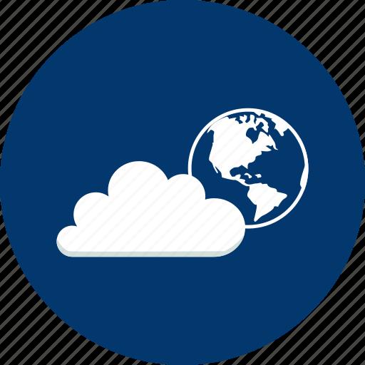 access, cloud, design, earth, global, modern, technology icon