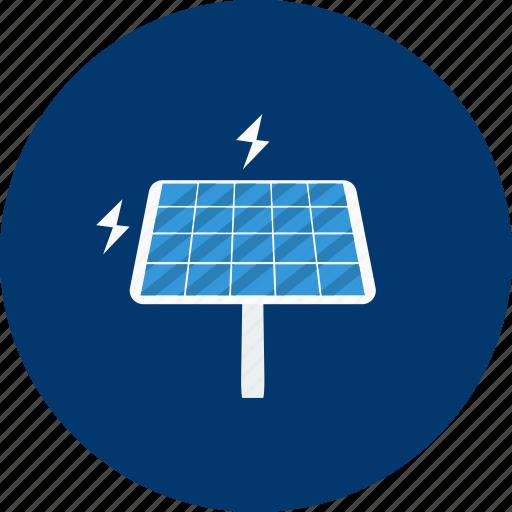 concept, design, electric, energy, modern, solar panel, technology icon