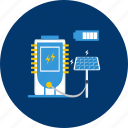 concept, design, electric, energy, modern, solar panel, technology icon