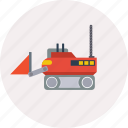 concept, design, excavator, modern, robot, technology, transport icon