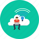 cloud, design, internet, lifi, modern, people, technology icon