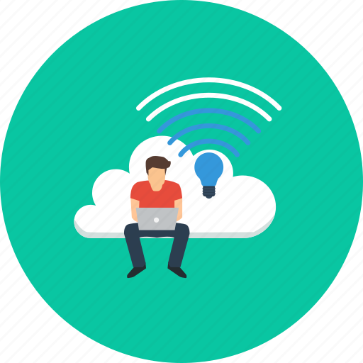cloud, design, internet, lifi, modern, people, technology icon