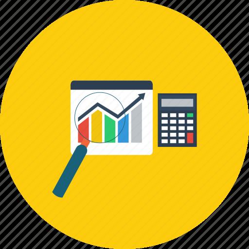 business, chart, concept, design, mathematics, modern, technology icon
